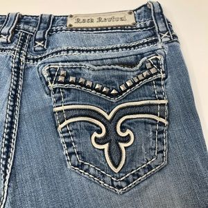 Rock Revival Liberty Studded Light Wash Blue Jeans